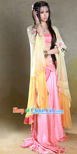 Chinese Fairy Costumes and Headpieces Complete Set