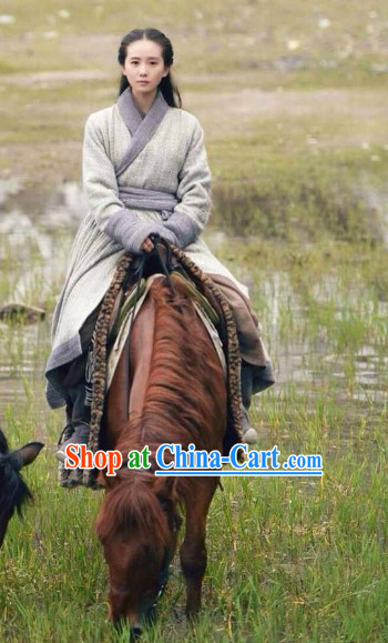 Chinese Traditional Hanfu Clothes Robes