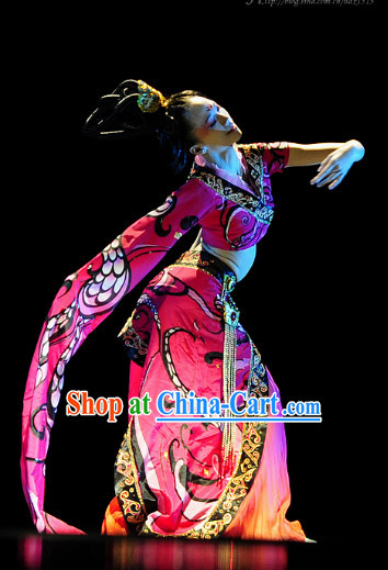 Traditional Chinese Classical Dance Jewelry and Dance Costumes Complete Set
