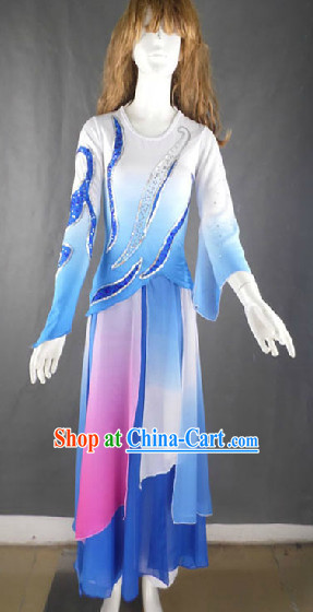 Professional Solo Dancing Costumes and Headwear Complete Set for Women