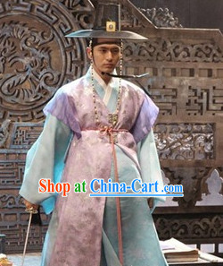 Ancient Korean Official Hanbok Clothes and Hat Complete Set
