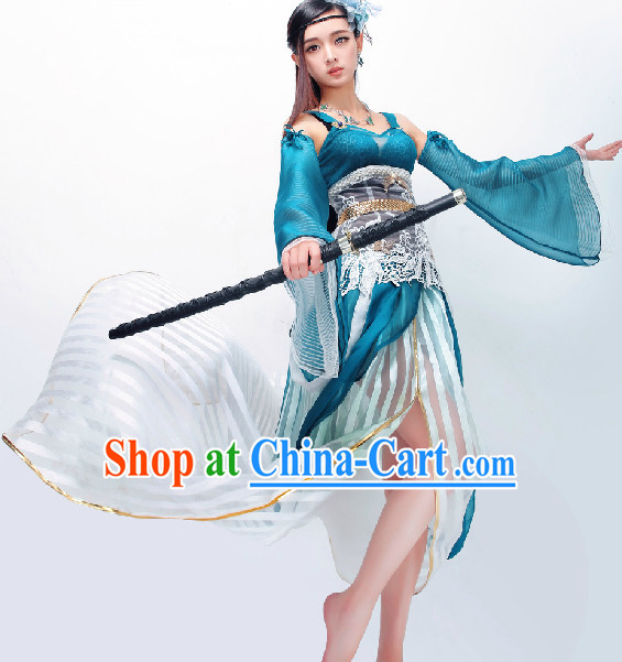 Chinese Blue Princess Cosplay Costumes