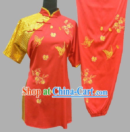 Professional Competition Butterfly and Flower Tai Chi Outfit for Men or Women