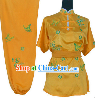 Color Change Butterfly Embroidery Wushu Clothes Complete Set