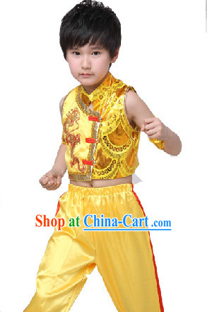 Traditional Chinese Dragon Dancer Suit for Kids