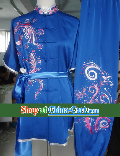 Top Competition Championship Embroidery Kung Fu Suit for Girls