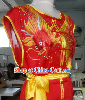 Top Competition Championship Dragon Embroidery Kung Fu Clothes for Men