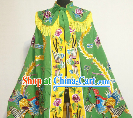 Chinese Traditional Phoenix Embroidery Mantle