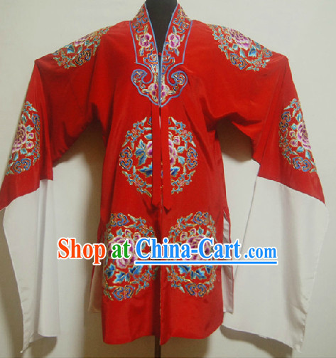 Chinese Ancient Red Phoenix Embroidery Wedding Robe