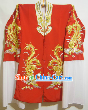 Chinese Red Phoenix Embroidery Wedding Clothes