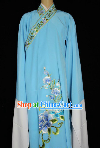 Chinese Light Blue Xiao Sheng Robe