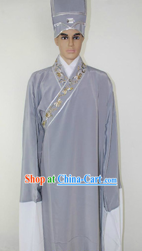 Traditional Chinese Clothes and Hat for Men