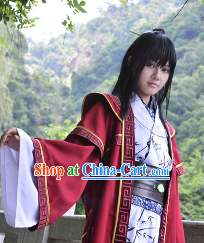 Traditional Chinese Swordsman Clothing Complete Set