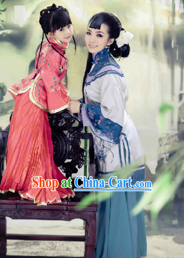 Ancient Chinese Mother and Son Costumes 2 Complete Sets