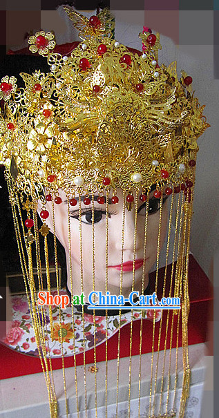 Handmade Chinese Classical Wedding Phoenix Coronet