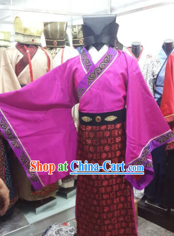 Ancient Chinese Official Clothing and Hat for Men