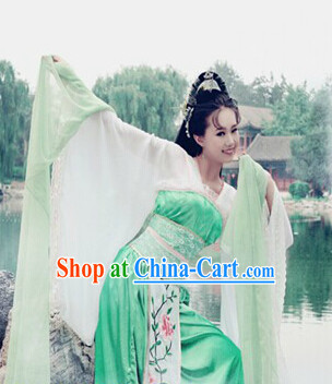 Ancient Chinese Fairy Costumes and Hair Accessories