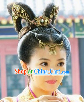 Ancient Chinese Princess Headwear and Wig