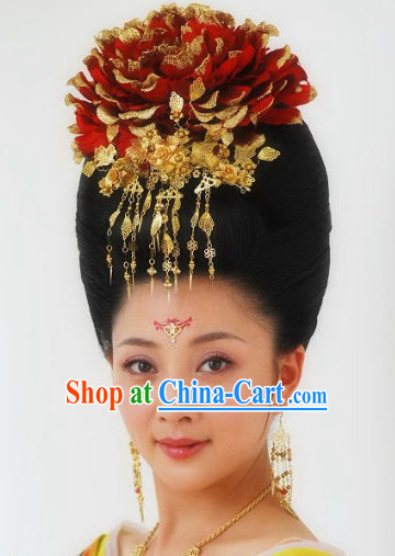Ancient Chinese Empress Wig and Headwear