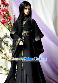 Black Hanfu Costumes Complete Set for Men