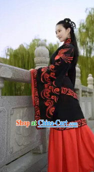 Black Phoenix Quju Costumes and Hair Accessories Complete Set