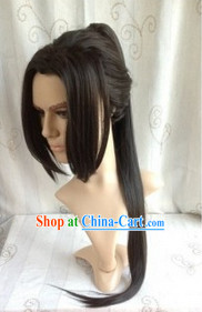 Ancient Hero Cosplay Black Long Wig for Men