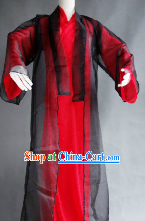 Black and Red Classical Dancing Costumes for Men