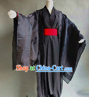 Ancient Black Master Guzhuang Clothes for Boys