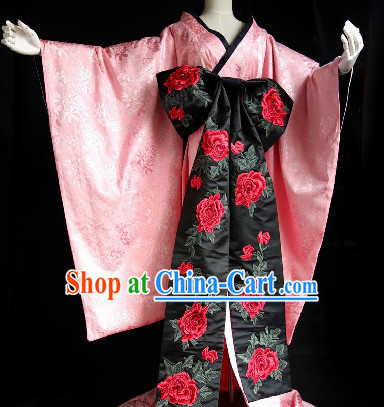 Stage Performance Japanese Kimono Clothes for Girls