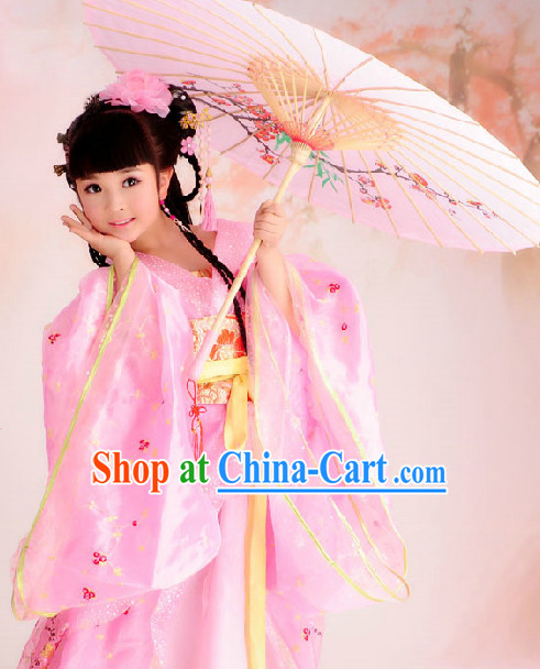 Ancient Palace Pink Princess Suits Complete Set for Kids