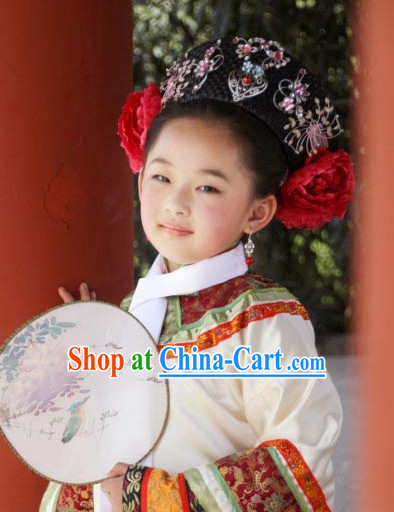 Qing Palace Princess Costumes Complete Set for Kids