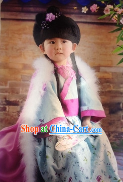 Chinese Traditional Hanfu Costumes for Kids
