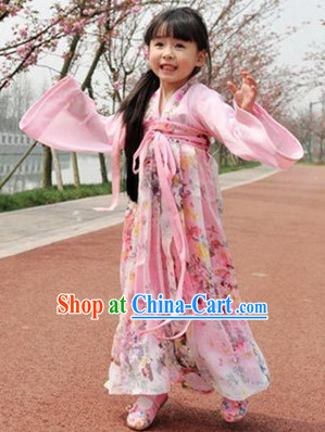 Ancient Chinese Tang Ruqun Costumes for Kids