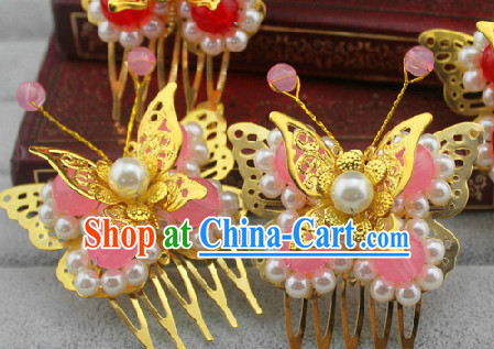Pink Traditional Handmade Butterfly Hair Accessories