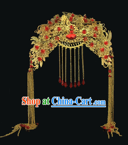 Chinese Traditional Handmade Hanfu Bridal Headpiece