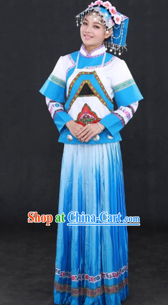China Buyi People Ethnic Group Clothing and Hat Complete Set