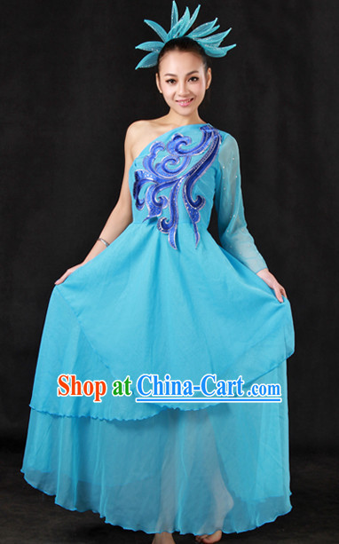 Stage Classical Dancing Costumes and Headwear for Girls