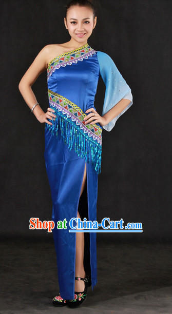 Traditional Chinese Stage Performance Cheongsam
