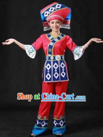 Zhuang Regional costumes and Hat Complete Set