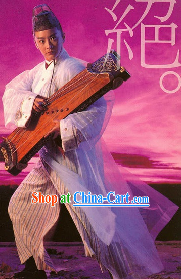 Guzhuang Film Most Handsome and Smart Man's Costumes and Hat