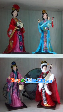 Handmade Beijing Silk Figurine Doll - Ancient Four Beauties Set