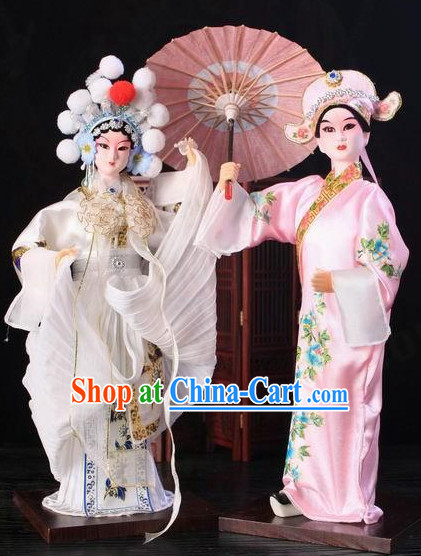 Handmade Beijing Silk Figurine Doll - Xu Xian and Bai Suzhen Love Story