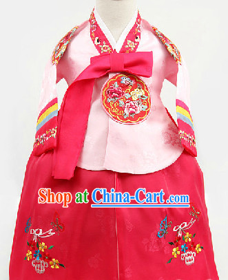 Korean Traditional Hanbok for Children from 1 Year Old to 15 Years Old