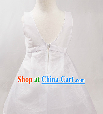 Korean Traditional Hanbok White Inside Skirt for Kids