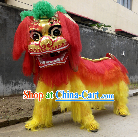 Smiling Beijing Lion Dance Costumes Complete Sets for Two People