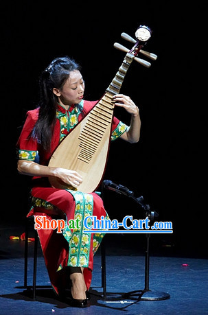 Traditional Chinese Lute Musician Costumes Cheongsam