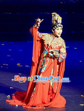 Ba Wang Bie Ji Empress Costumes and Headwear Complete Set