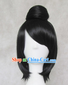 Traditional Chinese Black Wig for Men
