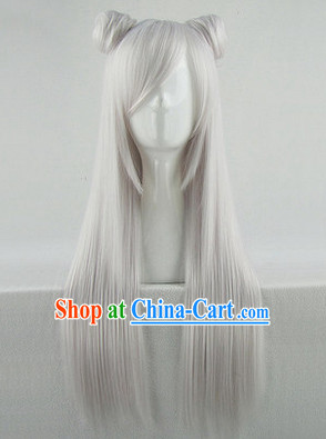 Ancient Chinese Fairy Cosplay White Wig for Teenagers