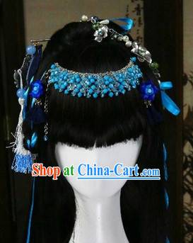 Ancient Chinese Princess Cosplay Wig and Hair Jewelry for Girls